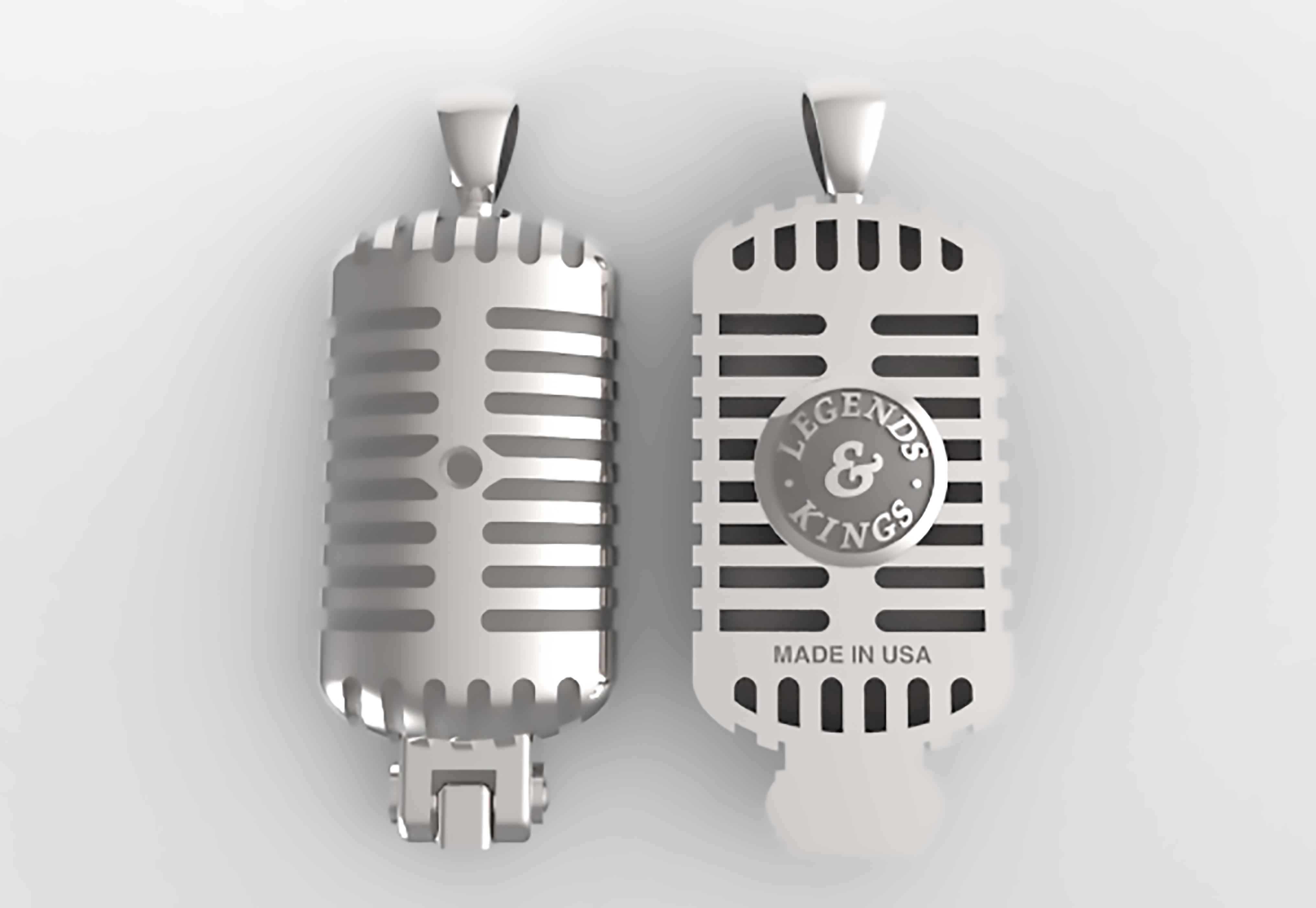 Large /'Microphones/' Jewellery Trinket Box JB00001480